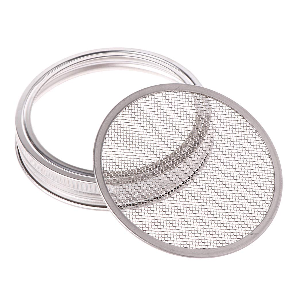 Sprouting Mason Jars with Stainless Steel Strainer Lids Germinator Set to Grow Your Own Sprouts Alfalfa Brocolli Bean Salad Genetic Los Angeles huihuay Kenley Seed Sprouter Kit