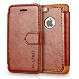 iPhone 5c Case Wallet,Mulbess [Layered Dandy][Vintage Series][Coffee Brown] - [Ultra Slim][Wallet Case] - Leather Flip Cover With Credit Card Slot for Apple iPhone 5c