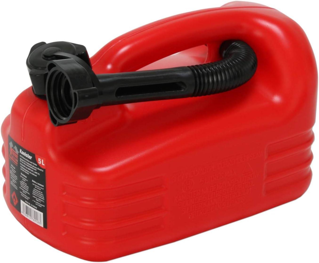 Benzinkanister schwarz 5 Liter Kraftstoff Reserve Kanister