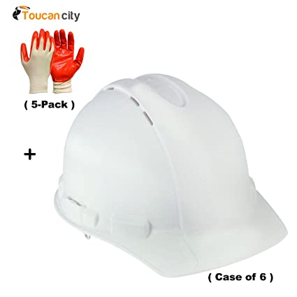 3M White Vented Hard Hat with Ratchet Adjustment (Case of 6) CHH-V-R