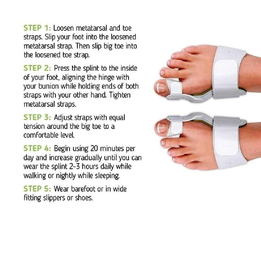 Bunion Corrector and Bunion Relief Orthopedic Bunion Splint Pads for Men and Women Hammer Toe Straightener and Bunion Protector Cushions- Relieve Hallux Valgus Foot Pain and Soothe Sore Bunions by Alayna (Image #7)