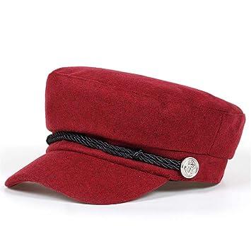 58808f98a04 Amazon.com   Original Design Women Men Beret Hat Fashion Flat Navy Berets  Cap Hat Brand Hats Casual Caps Wholesale wine red 2   Beauty