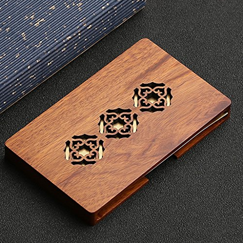 Wooden Name Card Holder Durable, Solid Wood Structure - Unique Modern Design - Ideal for Every Professional - Name, Credit Card and ID Wallet Case - Beautiful Gift Box (Color : 2)