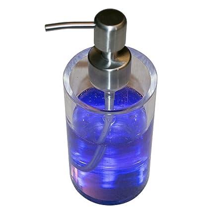 Sonnyridge Dispensador de jabón líquido, 100% acrílico, hecho a mano encimera dispensador de