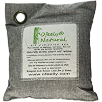 Ofeely Air Purifying Bag 500g Natural Bamboo Charcoal Deodorizer Naturally Removes Odor (Light Grey)