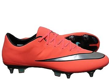 Nike Mercurial Vapor X SG de Pro Botas de fútbol para/tacos de fútbol de zapato Naranja: Amazon.es: Deportes y aire libre