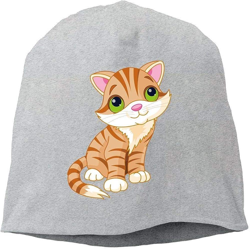 Headscarf Taco Cat Head Hip-Hop Knitted Hat for Mens Womens Fashion Beanie Cap