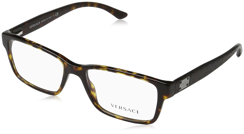 9ba63da7c54a Amazon.com  Versace VE3198 Eyeglass Frames 108-55 - Dark Havana  VE3198-108-55  Clothing