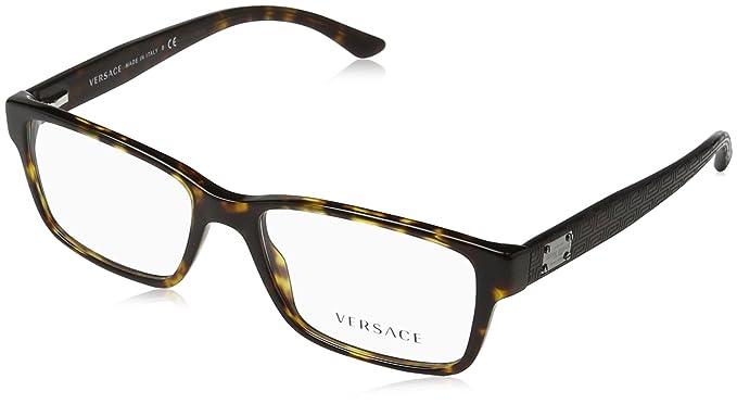 Versace Montures de lunettes Pour Homme 3198 - 108  Dark Tortoise - 55mm 8d75315f1592