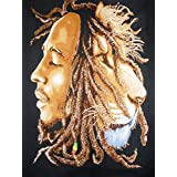 """Traditional Jaipur Bob Marley Wall Tapestry, Hippie Poster, Rasta Indian Wall Hanging, Bohemian Lion Dorm Room Decorations, Gypsy Wall Art 30""""X42"""" inches"""