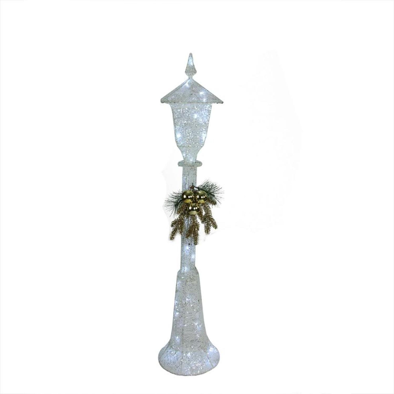Northlight 48'' LED Lighted Indoor/Outdoor Lamp Post Christmas Decoration - Cool White Lights