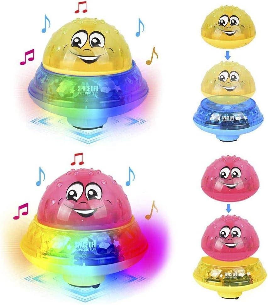 TRYSHA 2packs bebé Baño de luz LED Musical del Aerosol de Agua del Juguete del baño, el baño con niños estanco a Prueba de Agua de hidromasaje niños Juega el Regalo for Niños Niñas