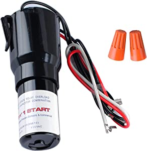 3 In 1 Hard Start Kit for Refrigerator Relay Capacitor Overload RCO810