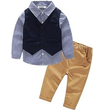 e40636cee8a913 VIYOR ベビー 男の子フォーマル スーツ ベスト付き 発表会 七五三 結婚式 出産祝い 3点