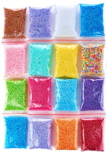 Foam beads slime kit - Slime supplies styrofoam balls - Foam balls Crafts Supplies - Floam beads for making Homemade slime - micro floam balls DIY slime supplies