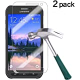Galaxy S6 Active Screen Protector,TANTEK [Bubble-Free][Anti-Scratch][Anti-Glare][Anti-Fingerprint] Tempered Glass Screen Protector for Samsung Galaxy S6 Active(Not S6),-[2Pack]