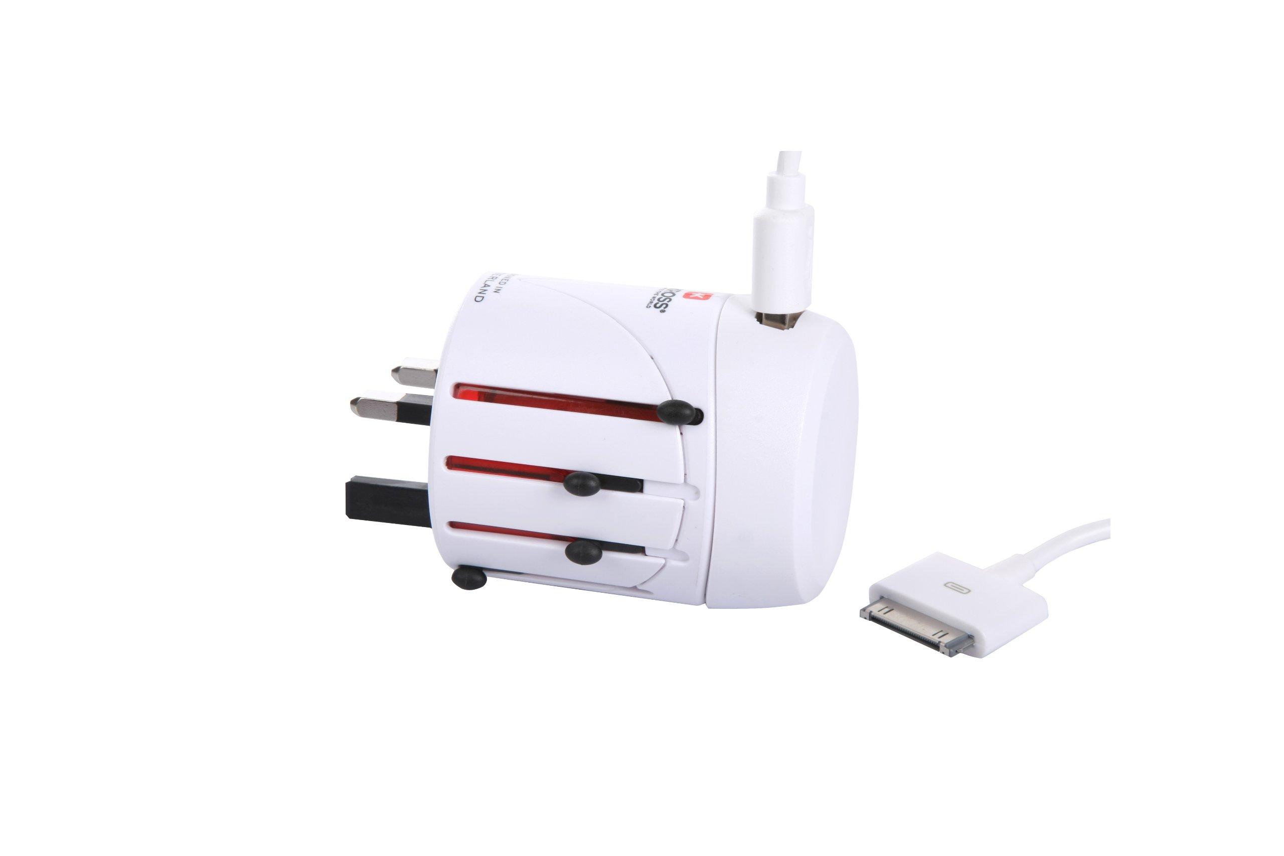 Skross World Adapter Classic USB White 1.300120