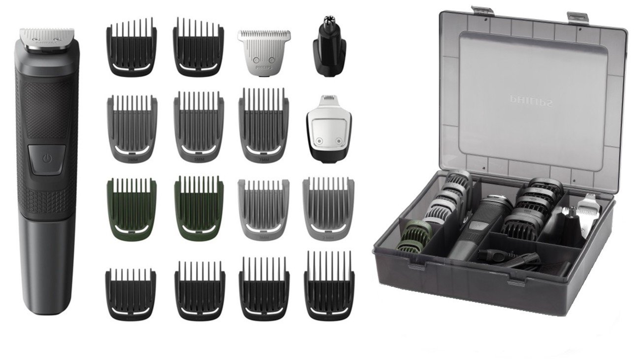 Philips Norelco Multi Groomer MG5760/40-18 piece, beard, body, face, nose, and ear hair trimmer and clipper w/storage case