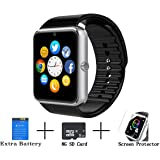 Axceed GT08 Bluetooth Smart Watch Touch Screen Sweatproof Andriod watch With Camera Sport Pedometer Sleep Monitor