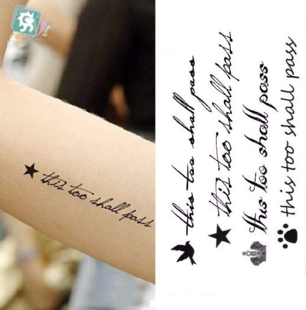 Etiqueta engomada del tatuaje temporal a prueba de agua Letras de ...