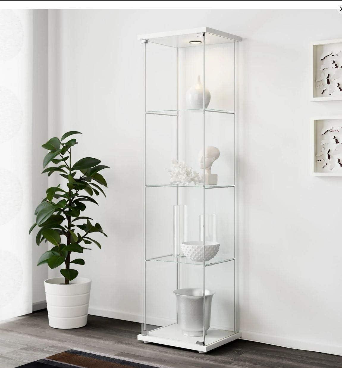 Ikea Detolf Glass Curio Display Cabinet White