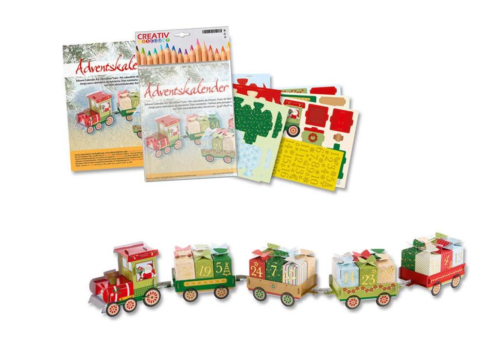 Creative Discount ® Adventskalender, Weihnachtszug 60-teilig CREATIV DISCOUNT