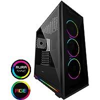 GameMax Bekijk ARGB PC Gaming case, ATX, 3 x 120mm Razor Fans inbegrepen, 2 x ARGB LED Strips inbegrepen, ARGB Hub, 9…