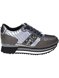 Apepazza Sneaker Running MOD. Raya in Pelle Tessuto Bianco Silver Donna  D19AP05 8f622374cdc