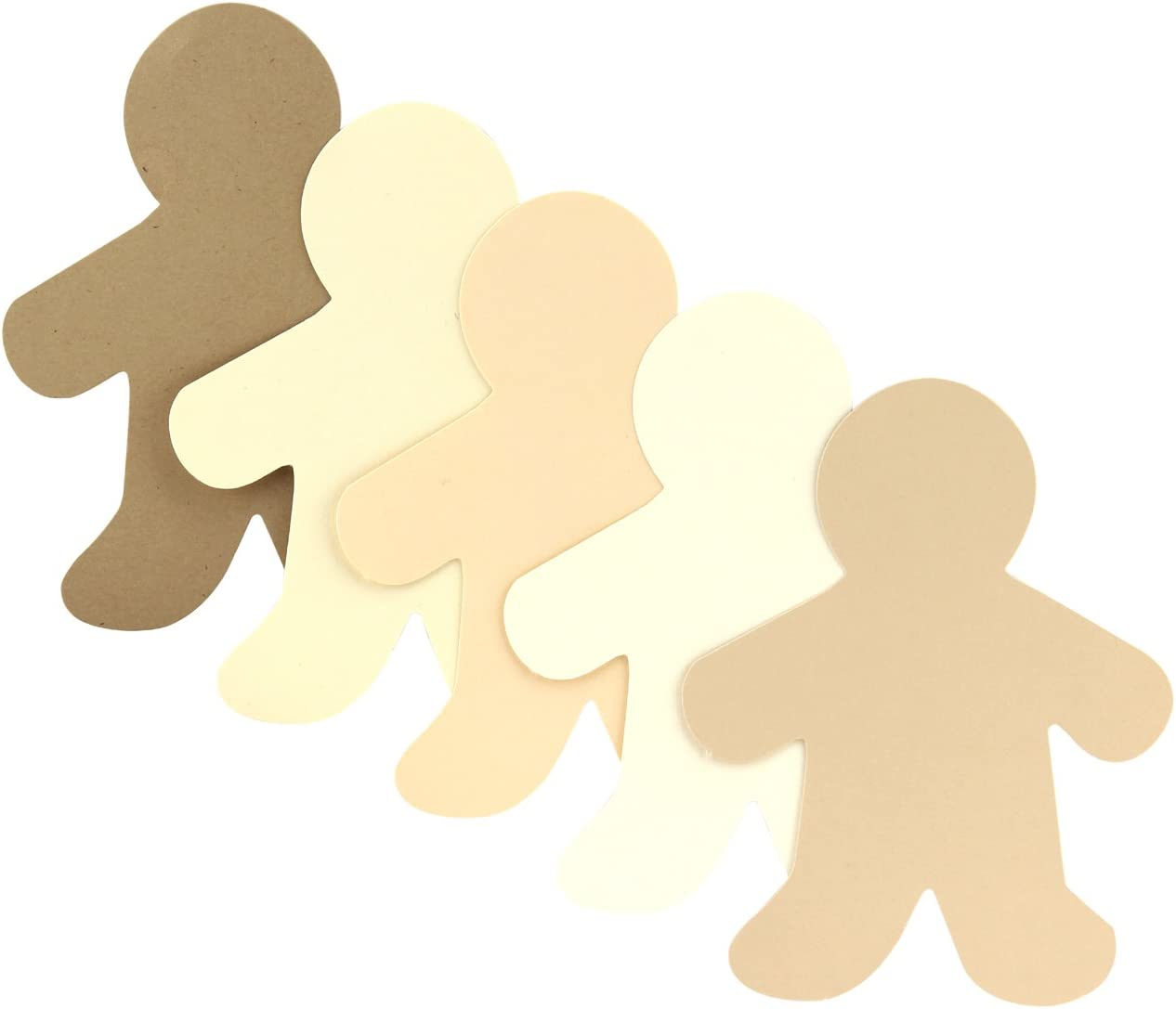 7-Inch Cardstock 7 Mommy-24 ct Assorted Hygloss Products 68207 People Paper Cut Outs Culturally Diverse Family