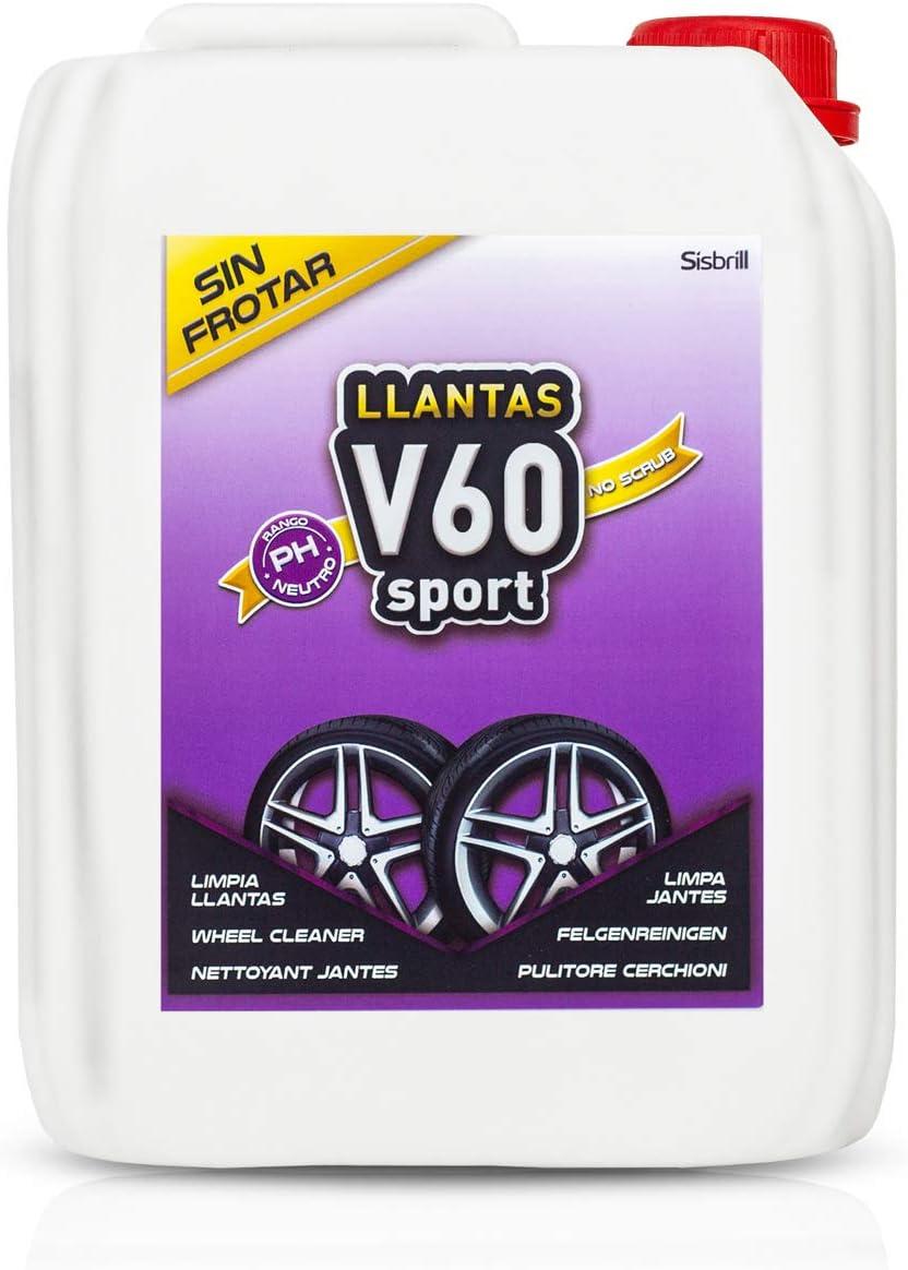 Sisbrill V60 Sport Limpia Llantas Sin Frotar- Neutro y Seguro - 5 litros