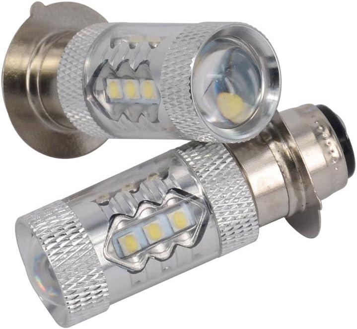 2x 35W Super White Xenon Headlight Bulbs For 2011 Yamaha Rhino 700 FI 4x4 SE ATV