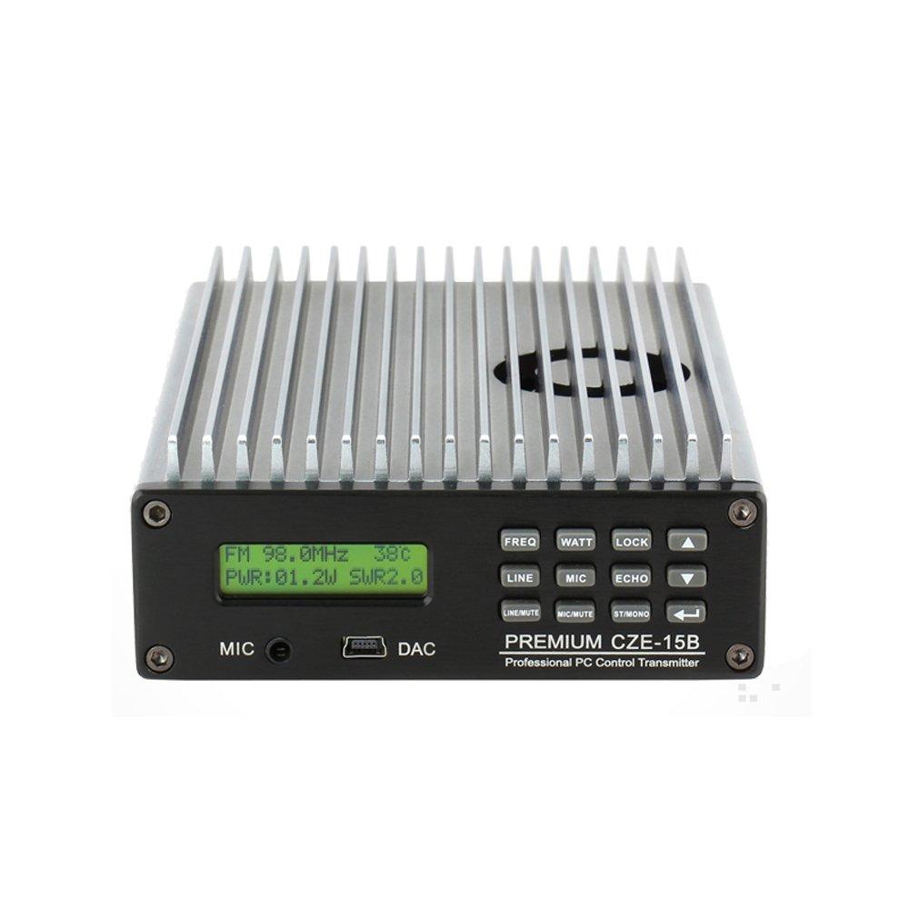 Happy Hours® 0-15W CZE-15B FM Transmitter 0-15w Power Adjustable Radio Broadcaster CD Sound Quality + 1/4 or 1/2 wave 100% AL antenna & Power Adapter Kit Set by Happy Hours® (Image #5)