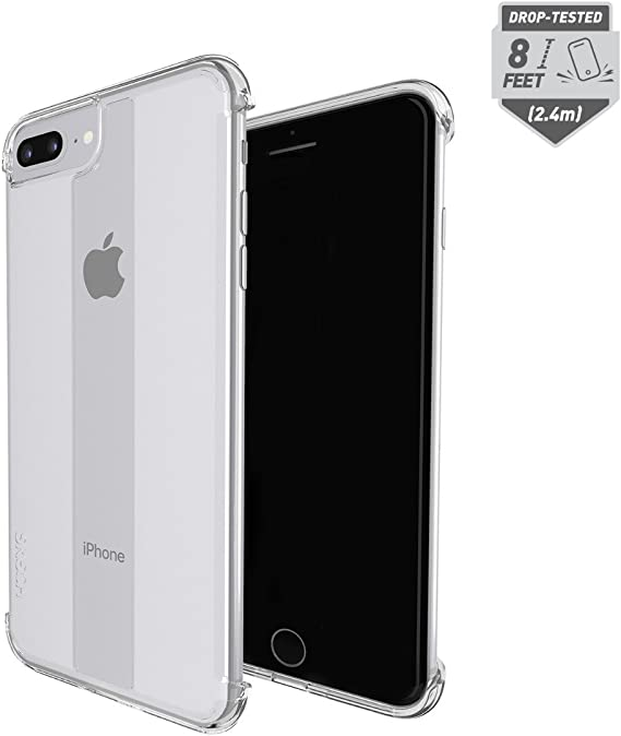 Skech Stark Minimal Naked Shockproof Protective Case for Apple iPhone 8 Plus, iPhone 7 Plus, 6s Plus Clear
