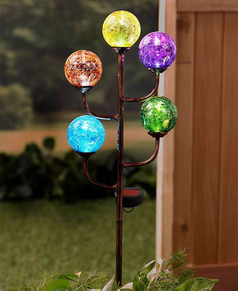 Amazon.com: The Lakeside Collection Colorful 5-Light Solar Stake ...