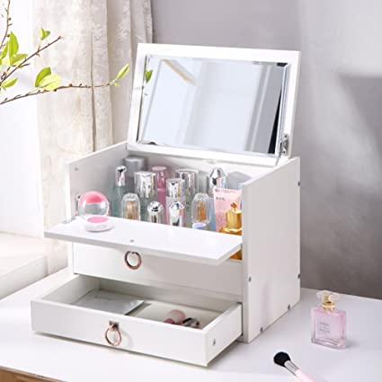 Amazon.com: Rart DIY Makeup Storage Box,Multi-Layer Drawer Storage ...
