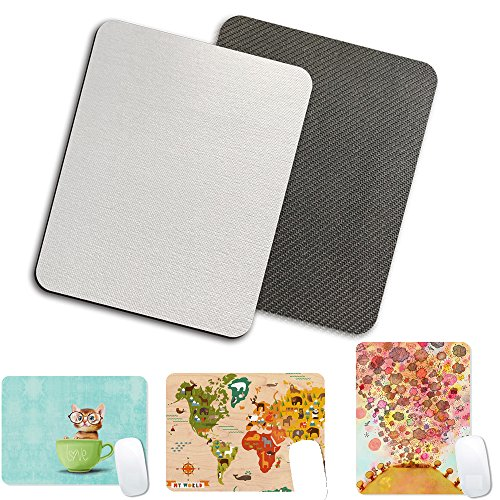 6pcs Blank Mouse Pad Pads for Sublimation Blanks Transfer Heat Press Printing Crafts Rectangular BossTop 9.5X7.8X0.2 inch (240X200X5mm)
