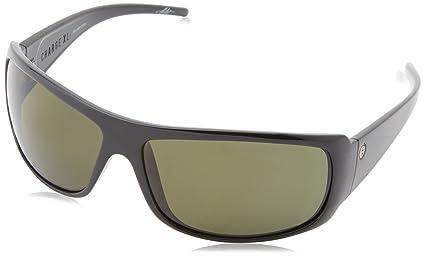a183c9dc61 Amazon.com  Electric Visual Charge XL Gloss Black OHM+Polarized Blue  Sunglasses  Clothing