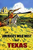 Indian on a Horse Back Old South West Visit Texas Train Travel Tourism Vintage Poster Repro 16'' X 22'' Image Size. We Have Other