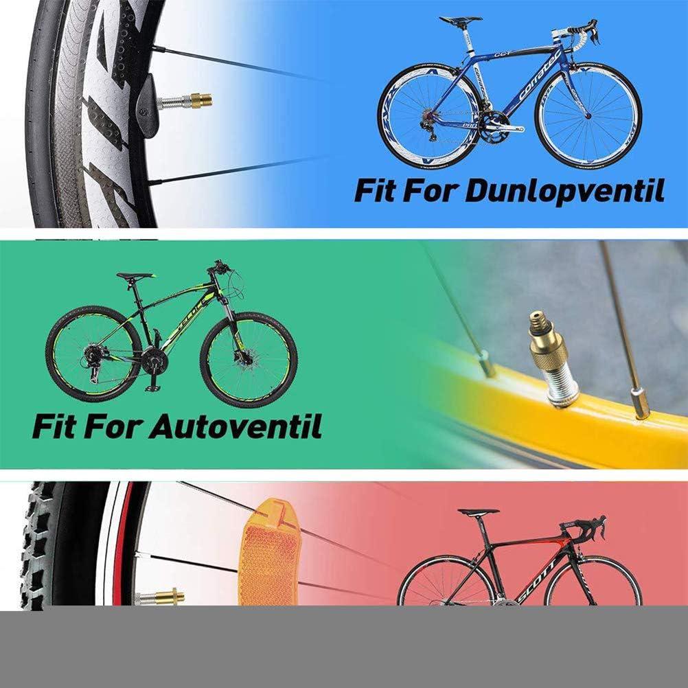 Fahrradventil SV AV DV-Adapter Fahrrad-Auto-Ventiladapter Dichtring Fahrradzubeh/ör Uyuke 24-teiliger Fahrradpumpenadapter