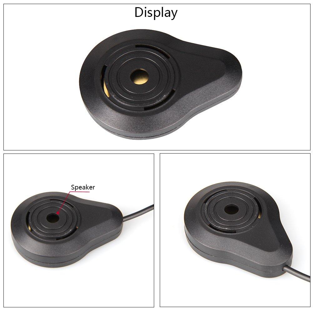 CAR ROVER/® Car Capteur de Stationnement Auto Syst/ème Stationnement BiBi Alerte Sonore Buzzer Avec 4 Capteurs Gris