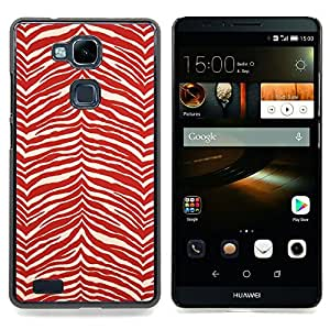 "Planetar ( Modelo de la cebra Wallpaper Red White Stripes"" ) HUAWEI Ascend MATE 7 Fundas Cover Cubre Hard Case Cover"