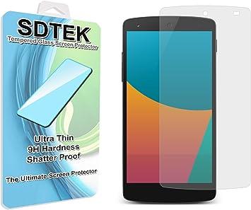 SDTEK LG Google Nexus 5 Protector de Pantalla Cristal Vidrio ...