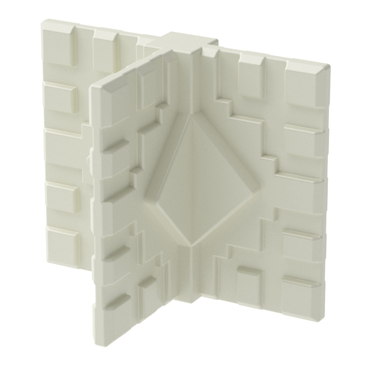 GOGO Panels - CT1W - Cream White Middle Foot 3-Way Connector