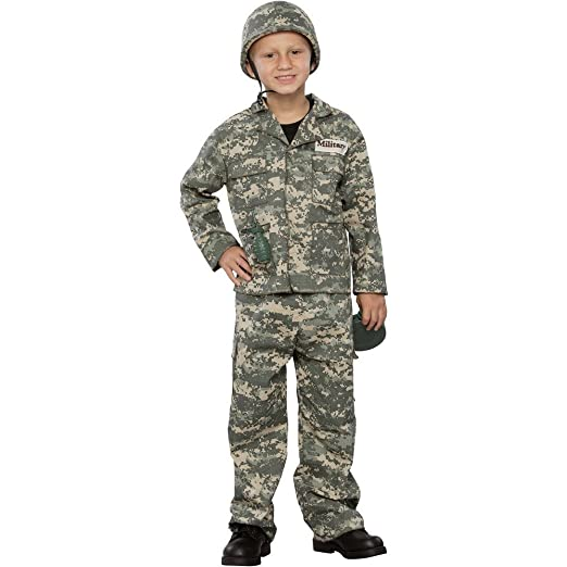 Army Soldier Child Costume Brown/Green Medium (8-  sc 1 st  Amazon.com & Amazon.com: Army Soldier Child Costume Brown/Green Medium (8-: Toys ...
