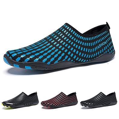 Madaleno Chaussures Aquatiques pour Homme Femme Chaussures d eau Chaussures  de Plage Chaussures de Yoga daade65ef7d5