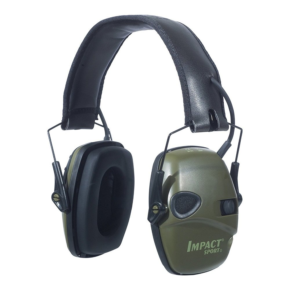 Howard Leight by Honeywell Impact Sport Sound Amplification Electronic Earmuff, Green (R-01526 ABeFXf, 2Pack (Earmuff)