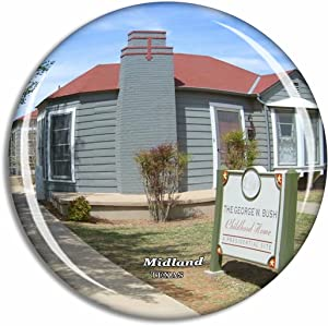 Midland George W. Bush Childhood Home Texas USA Fridge Magnet Travel Gift Souvenir Collection 3D Crystal Glass