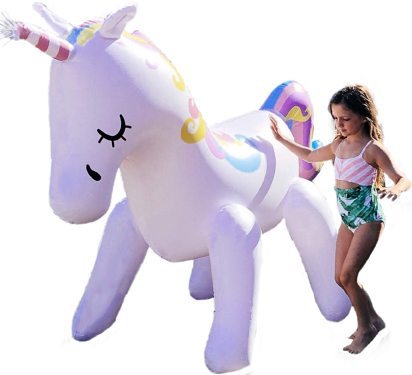 THE ORIGINAL UNICORN SPRINKLER Toy - Giant Inflatable Unicorn Sprinkler for Kids Adults - Great Outdoor Birthday Party… 3