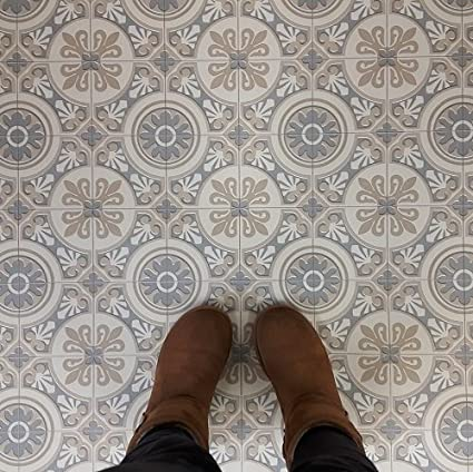 Gut bekannt Moroccan Tile Design Cushion Vinyl Flooring Sheet Lino Grey and PE59