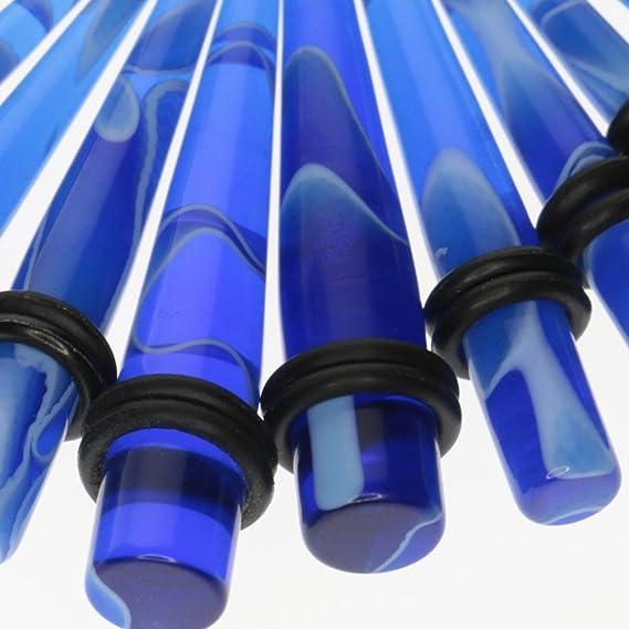Sharplace 14G-0G Tapón de Túnel Expansor para Orejas Oídos, Dilatador Calibrador Piercing, Acrílico, Color Azul - 32 Piezas: Amazon.es: Juguetes y juegos
